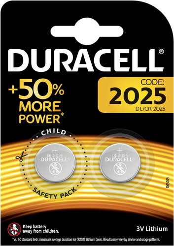 Duracell Specialty 2025 Lithium button cell battery 3V 2 pieces Main Image