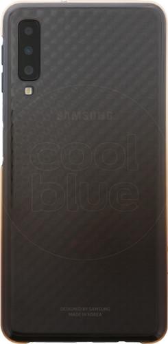 Samsung Galaxy A7 (2018) Gradation Clear Back Cover Goud Main Image