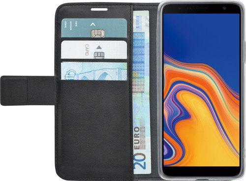 Azuri Wallet Magneet Samsung Galaxy J6 Plus (2018) Book Case Zwart Main Image