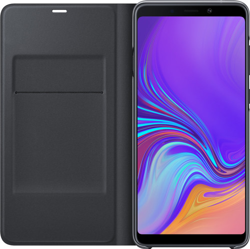 Samsung Galaxy A9 (2018) Wallet Book Case Zwart Main Image