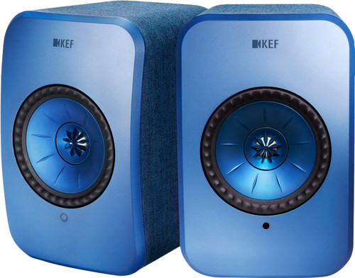 KEF LSX wireless stereo systeem Blauw Main Image