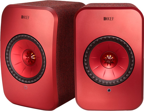 KEF LSX wireless stereo systeem Rood Main Image