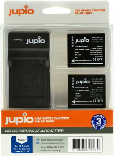 Jupio Kit: 2x Battery DMW-BLG10E + USB Single Charger Main Image
