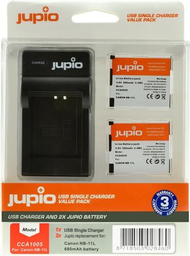 Jupio Kit: 2x Battery NB-11L + USB Single Charger Main Image