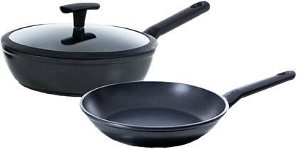 BK Easy Induction Frying pan 24cm and high-sided skillet 24cm Main Image