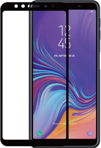 Azuri Tempered Glass Samsung Galaxy A7 (2018) Screen Protector Glass Black Main Image