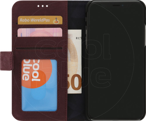Decoded Leather 2-in-1 Wallet iPhone X/Xs Book Case Rood Main Image