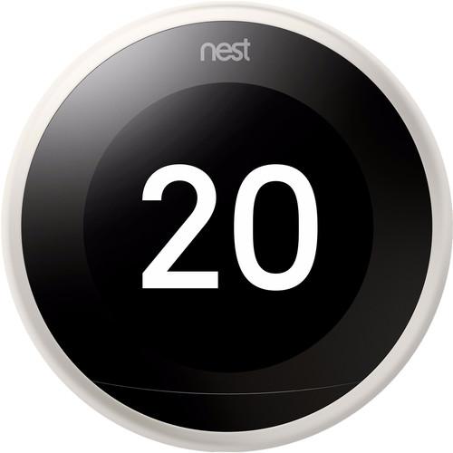 Google Nest Learning Thermostat V3 Premium Wit met installatie Main Image