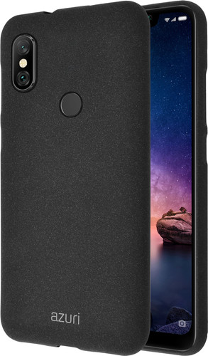 Azuri Flexible Sand Xiaomi Redmi Note 6 Pro Back Cover Black Main Image