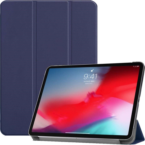 Just in Case Smart Tri-Fold Apple iPad Pro 11 Inch (2018) Book Case Blauw Main Image