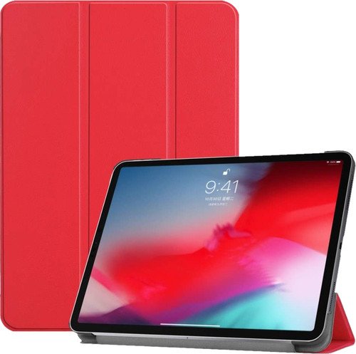 Just in Case Smart Tri-Fold Apple iPad Pro 11 Inch (2018) Book Case Rood Main Image