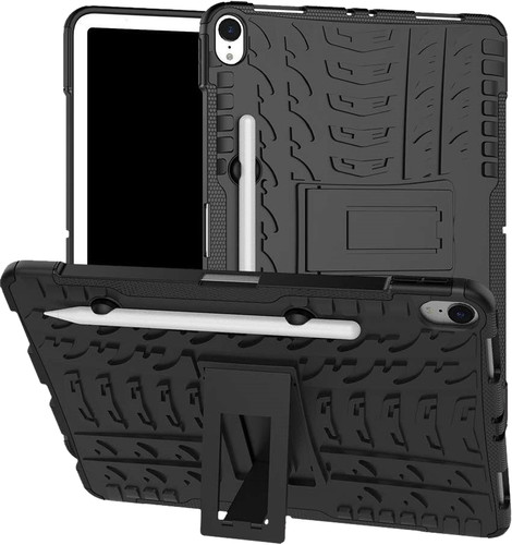 Just in Case Rugged Hybrid Apple iPad Pro 11 Inch (2018) Back Cover Zwart Main Image