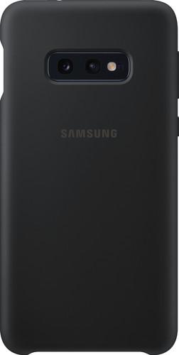 Samsung Galaxy S10e Silicone Back Cover Zwart Main Image