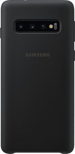 Samsung Galaxy S10 Silicone Back Cover Zwart Main Image