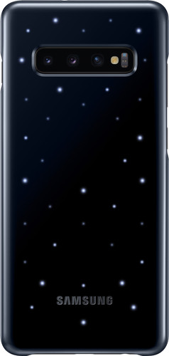 Samsung Galaxy S10 Plus Led Cover Back Cover Zwart Main Image