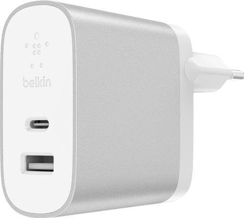 Belkin Dual Charger Without Cable 2 Usb Ports 27W Power Delivery 3.0 White Main Image