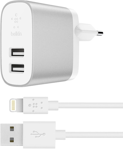 Belkin Boost Charge Dual Usb 4.8A Silver Main Image