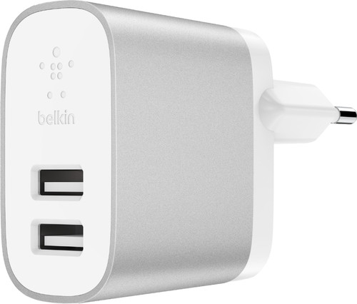 Belkin Boost Charge Usb Home Charger with 2 Usb a Ports 12W White / Silver Main Image