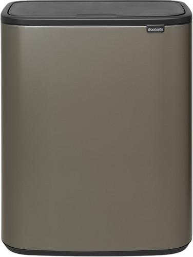 Brabantia Bo Touch Bin 2 x 30 Liter Platinum Main Image