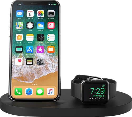 Belkin Boost Up Wireless Charger with USB A Port iPhone / Apple Watch Black Main Image