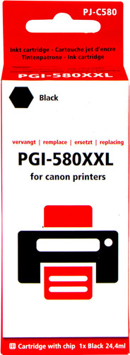 Pixeljet PGI-580XXL Cartridge Zwart Main Image