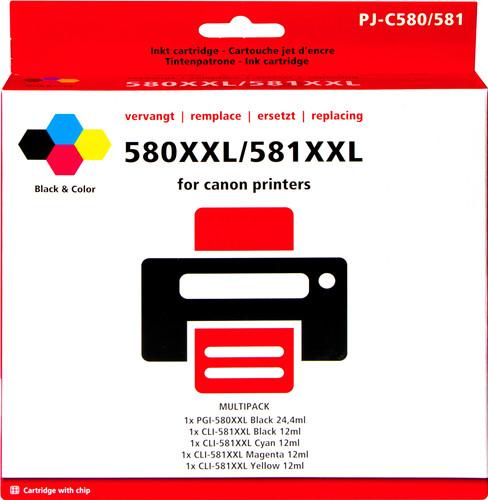 Pixeljet 580XXL/581XXL Cartridges Combo Pack Main Image