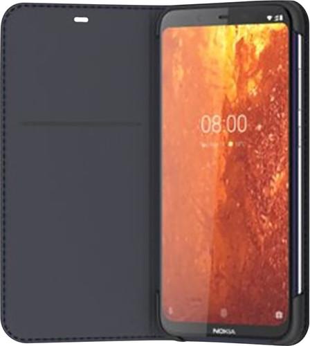 Nokia 8.1 Slim Flip Book Case Blauw Main Image
