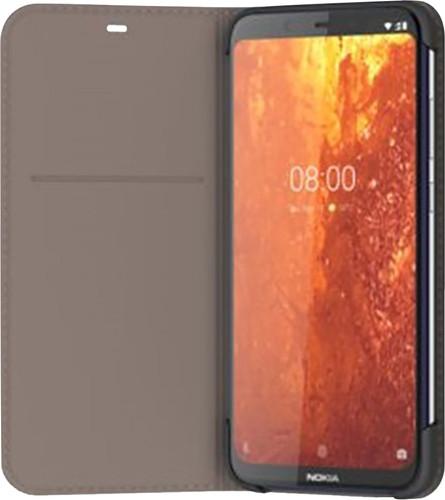 Nokia 8.1 Slim Flip Book Case Grijs Main Image