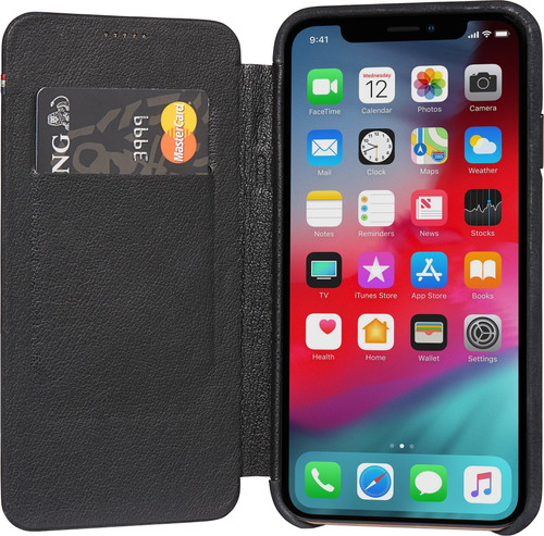 Decoded Leather Slim Wallet Apple iPhone X/Xs Book Case Zwart Main Image