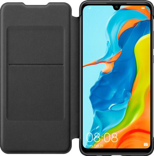 Huawei P30 Lite Flip Cover Book Case Zwart Main Image