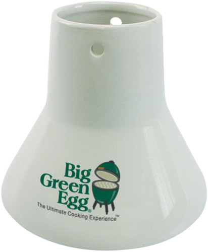 Second Chance Big Green Egg Sitting Chicken Ceramic Roaster Main Image