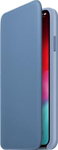 Apple iPhone Xs Max Leather Folio Cornflower Blue Main Image