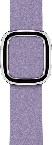 Apple Watch 40mm Modern Leren Horlogeband Lila - Small Main Image