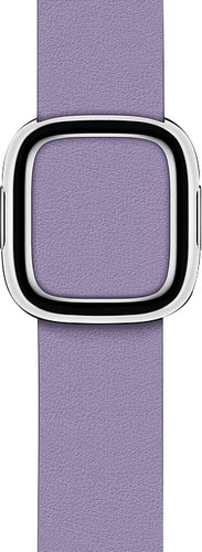 Apple Watch 40mm Modern Leather Watch Strap Lilac - Large Main Image