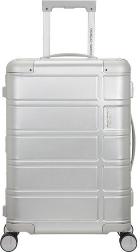 American Tourister Alumo Spinner 55cm Silver Main Image