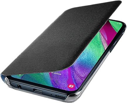 Samsung Galaxy A40 Wallet Cover Book Case Zwart Main Image