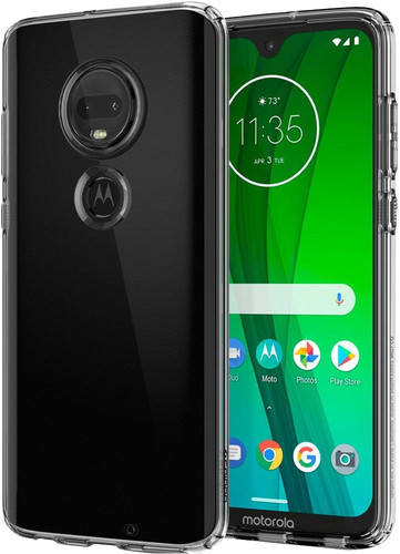 Spigen Liquid Crystal Motorola Moto G7 Back Cover Transparant Main Image