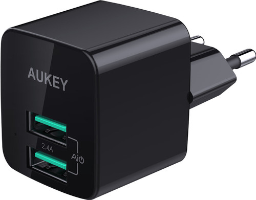 Aukey Usb A Home Charger with 2 Ports 4,8A Black Main Image