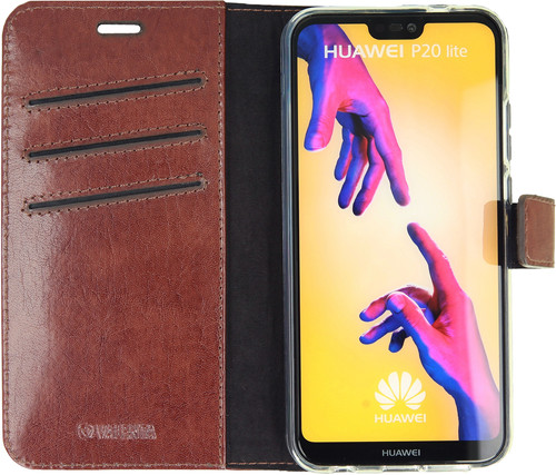 Valenta Booklet Gel Skin Huawei P20 Lite Book Case Brown Main Image
