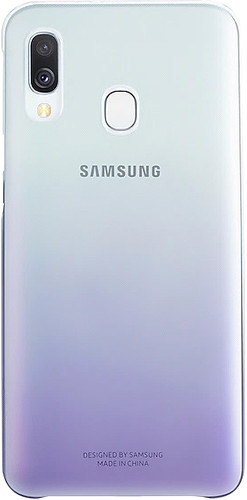 Samsung Galaxy A40 Gradation Cover Back Cover Purple / Transparent Main Image