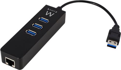 Ewent 3 PortsUsb-A 3.0 Hub Met Gigabit Ethernet Main Image