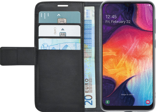 Azuri Wallet Magneet Samsung Galaxy A50 / A30s Book Cover Zwart Main Image