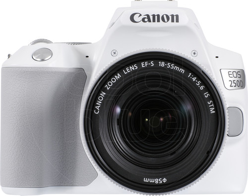 Canon EOS 250D White + 18-55mm f / 4-5.6 IS STM Main Image