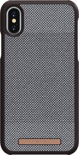 Nordic Elements Sif Check Apple iPhone X/Xs Back Cover Bruin Main Image