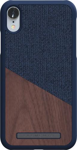 Nordic Elements Frejr Apple iPhone Xr Back Cover Blue / Wood Main Image