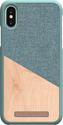Nordic Elements Frejr Apple iPhone X/Xs Back Cover Groen/Hout Main Image