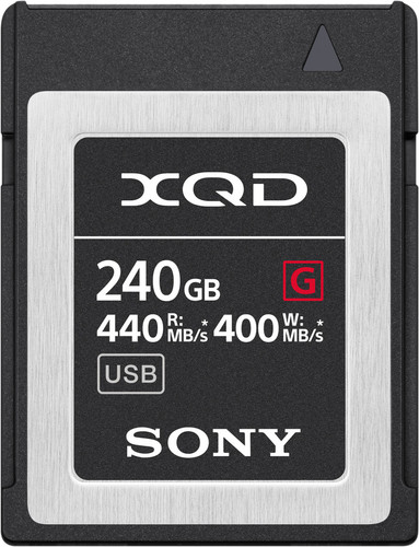 Sony XQD G 240GB High Speed R440 W400 Main Image