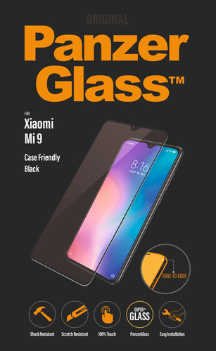 PanzerGlass Case Friendly Xiaomi Mi 9 Screen Protector Glass Black Main Image