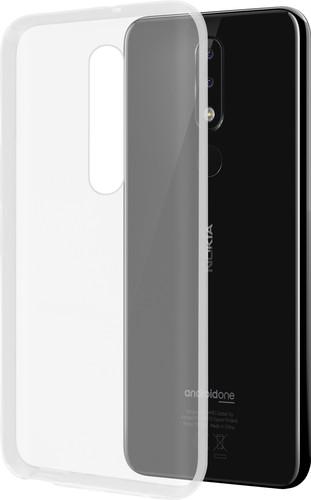 Azuri Glossy TPU Nokia 5.1 Plus (2018) Back Cover Transparant Main Image