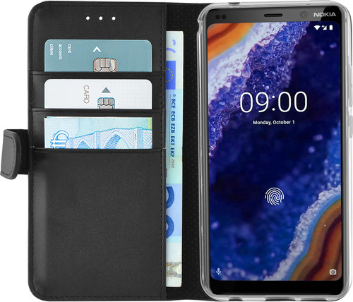 Azuri Wallet Magnet Nokia 9 PureView Book Case Black Main Image